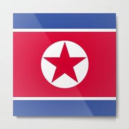North Korea flag emblem Metal Print