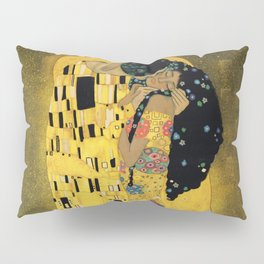 Curly version of The Kiss by Klimt Pillow Sham