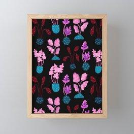 Painted Postmodern Potted Plants in Black Framed Mini Art Print