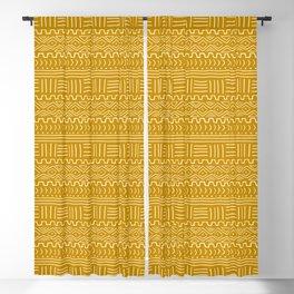Mud Cloth on Mustard Blackout Curtain