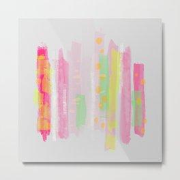 Pastel Abstract Sticks Metal Print