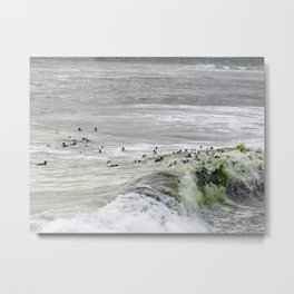 ROLLING AND TUMBLING ON THE WAVES Metal Print