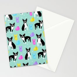 Boston Terrier dog breed peeps marshmallow treat easter spring traditions boston terriers Stationery Cards