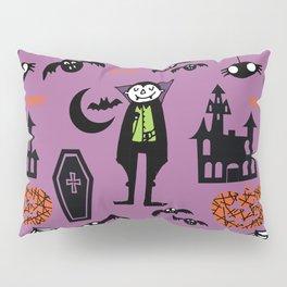 Cute Dracula and friends purple #halloween Pillow Sham