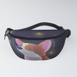 Luna the Space Corgi Fanny Pack