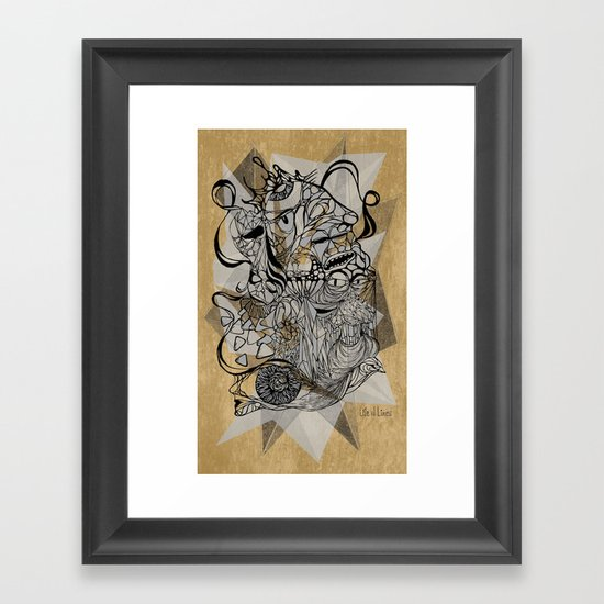 Life of Lines Framed Art Print