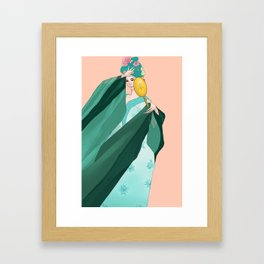 Sailor Senshi Hanfu: Neptune Framed Art Print