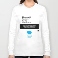 posters Long Sleeve T-shirts featuring Kitchen Posters - Rivotril/Maracuja by mvaladao