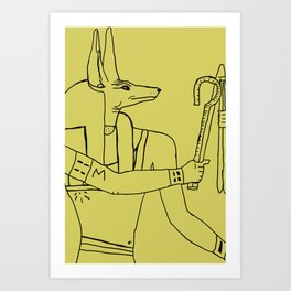 Chakal del Sol Art Print