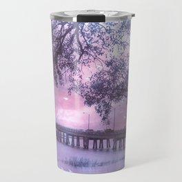 Surreal Purple Romantic South Carolina Coastal Bridge Travel Mug
