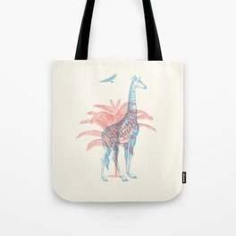 Giraffe - Where they Belong Tote Bag