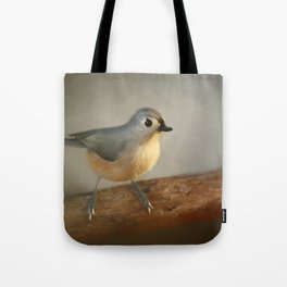 Winter Tufted Titmouse Tote Bag