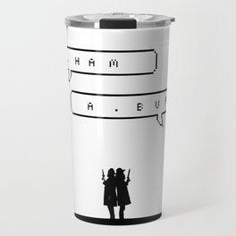 Hamilton vs Burr Travel Mug