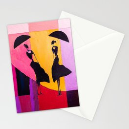LADIES UNDER UMBRELLAS Stationery Cards