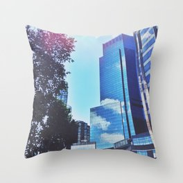 Mirrors show only sky Throw Pillow