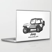 jeep Laptop & iPad Skins featuring Jeep by Mister Abigail