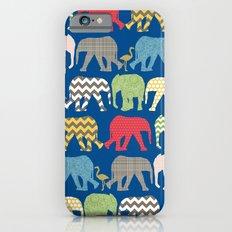 baby elephants and flamingos lapis Slim Case iPhone 6s