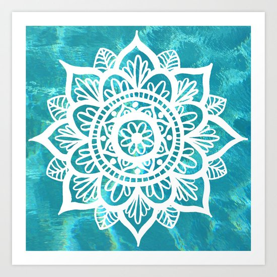 Water Mandala Art Print