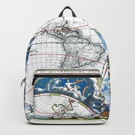 World map wall art 1760 dorm decor mappemonde Backpack