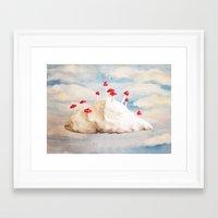 laputa Framed Art Prints featuring Mushroom Cloud  by Ophelia Kwong