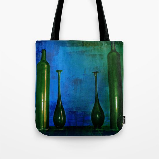 glass is green Tote Bag