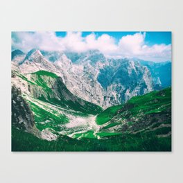 View of the majestic Madeira mountains Canvas Print