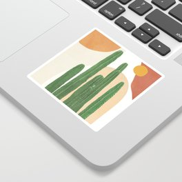 Abstract Cactus I Sticker