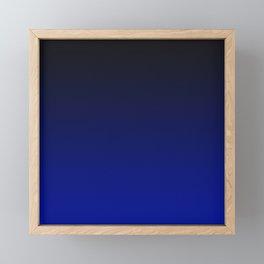 Cobalt blue Ombre Framed Mini Art Print
