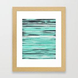 * Mint Brush * Framed Art Print