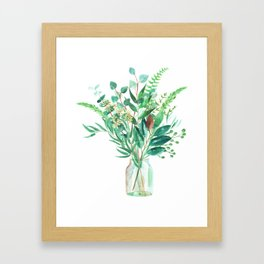 greenery in the jar Framed Art Print