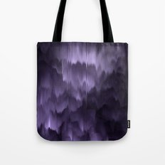 Purple and black. Abstract. Tote Bag