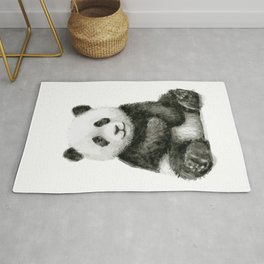 Panda Baby Watercolor Rug