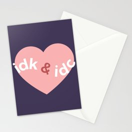idk & idc Stationery Cards