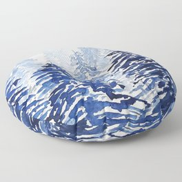A snowy pine forest watercolor  Floor Pillow