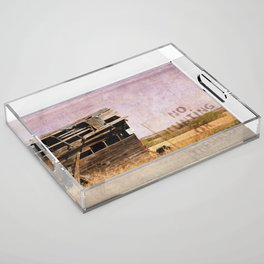 No Trespassing or Hunting Stamped Acrylic Tray