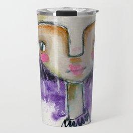 Girl in Purple Travel Mug