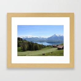 Lake Thun Bernese Oberland Switzerland Framed Art Print