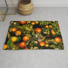 Vintage & Shabby Chic- Tropical Fruit Night Garden Rug