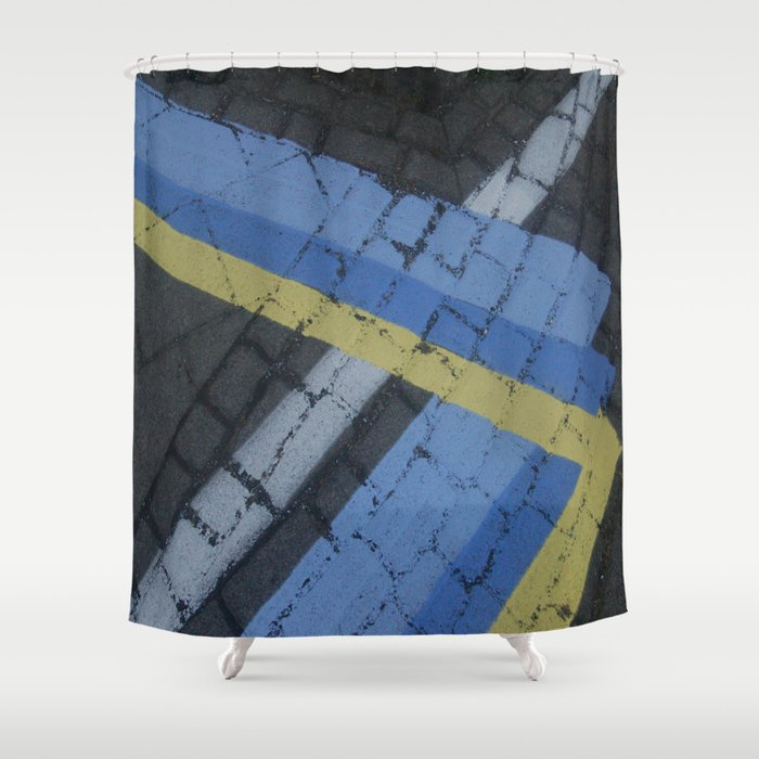Color Stripe Angles Shower Curtain