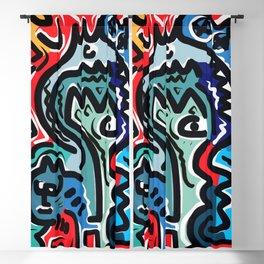 Life Energy Pop Art Graffiti Abstract Design Blackout Curtain