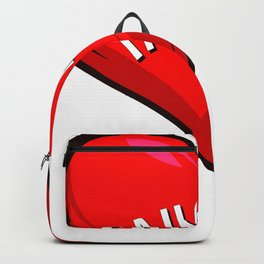 Diver Love Loves Heart Red Backpack