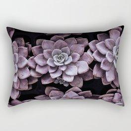 Violet Succulents Rectangular Pillow