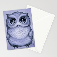 The Little Owl ~ Lavender Stationery Cards