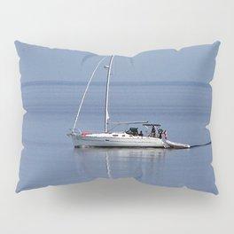 Sailboat Motors up the River Pillow Sham