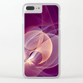 Temperament, Abstract Fractal Art Clear iPhone Case