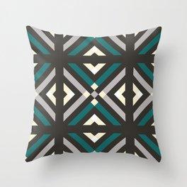 Dark Geometric Pattern Throw Pillow