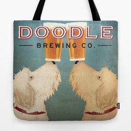 Goldendoodle Labradoodle Doodle Brewing Co. Beer Sign Tote Bag