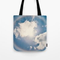 halo Tote Bags featuring Halo by RDelean
