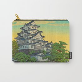 Kawase Hasui Vintage Japanese Woodblock Print Himeji Castle Carry-All Pouch