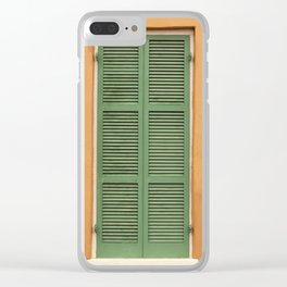 Green Shutters - Colorful Architecture in the New Orleans French Quarter Clear iPhone Case